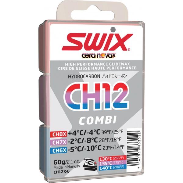 Swix Sklzný vosk CH12X COMBI - hydrokarbónový vosk