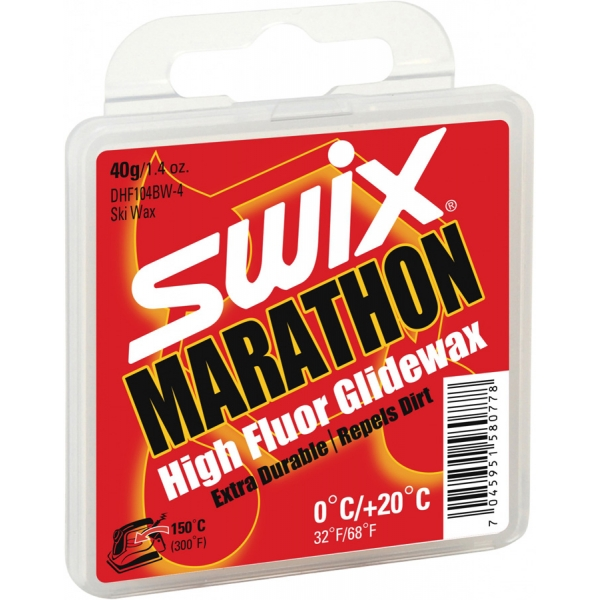 Swix Sklzný HF vosk Marathon - vysokofluórové vosky na bežky