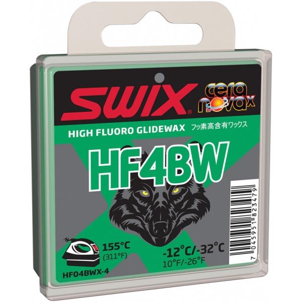 Swix Sklzný vosk HF4BWX - vysokofluórové vosky na bežky
