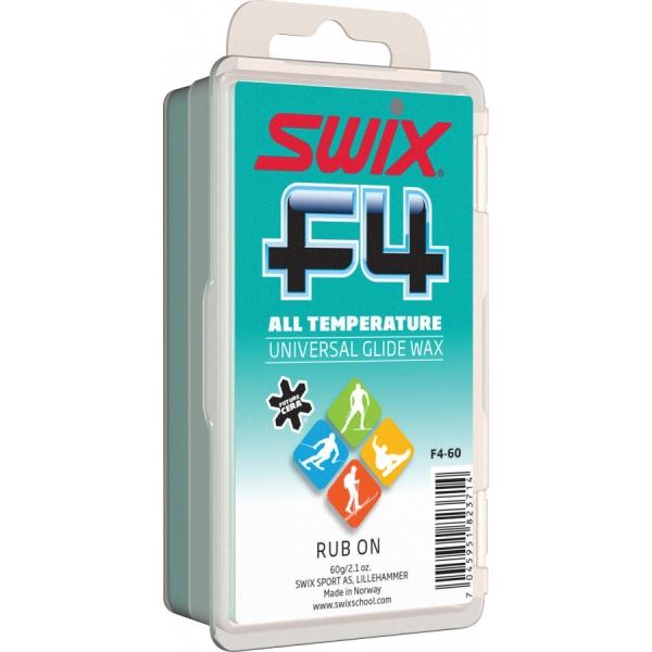 Swix Sklzný vosk F4 s korkom - nízkofluórový vosk na lyže