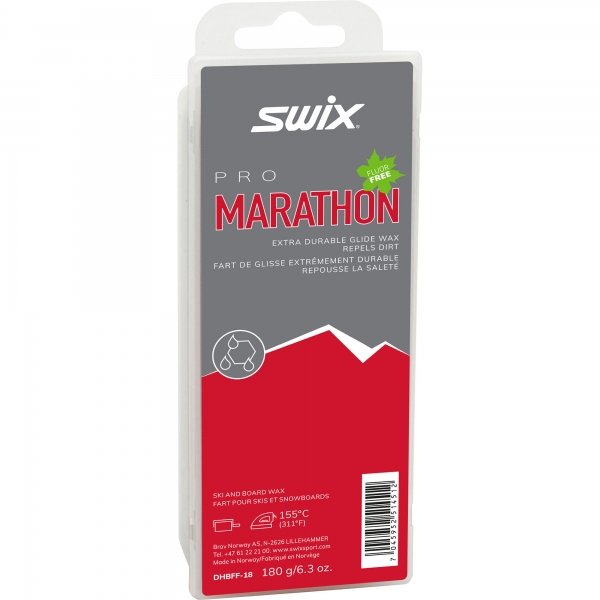 Swix Sklzný vosk Marathon - vysokofluórové vosky na bežky